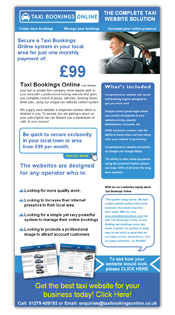 Taxi Bookings Email Template