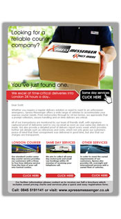 Courier Services Email Design