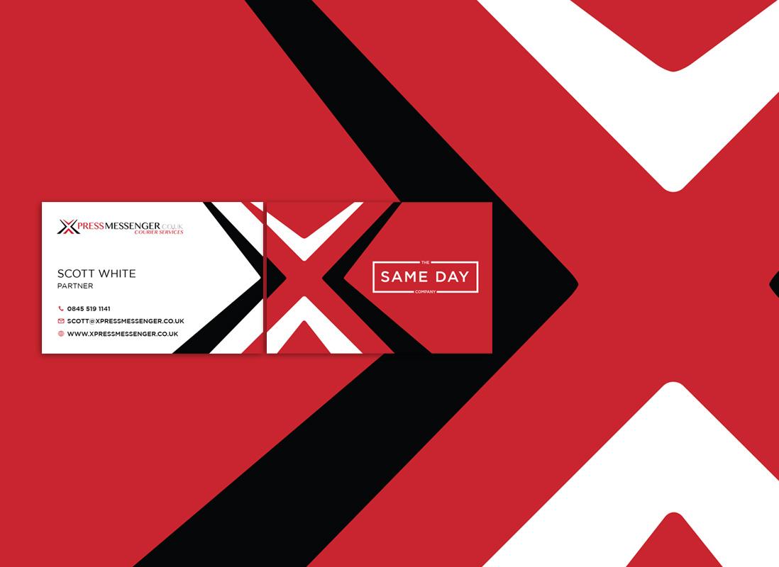 Business card design xpress messenger design m website design business card design xpress messenger reheart Images