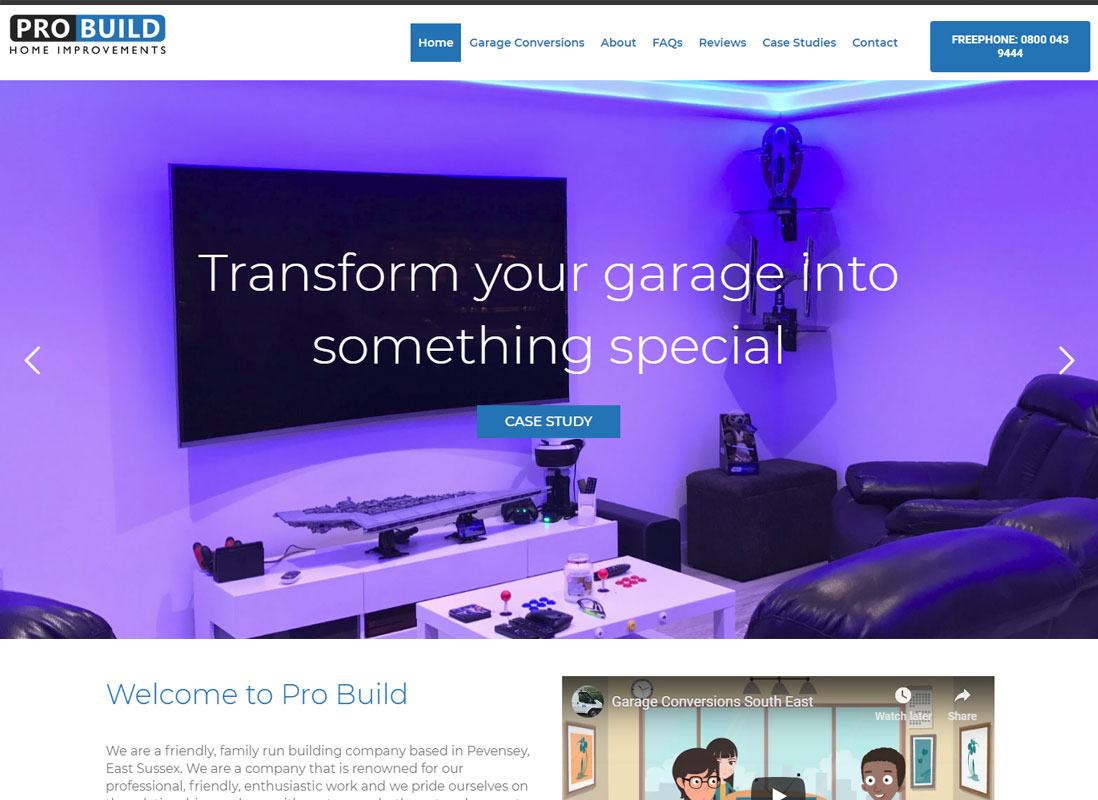 Website Design - Pro Build Home Improvements